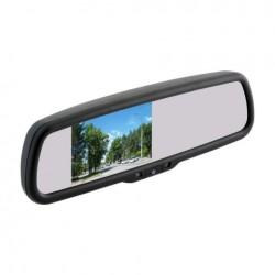 """Зеркало заднего вида с монитором экран TFT LCD, размер 3,5"""",питание 12В, TV система PAL/NTSC арт.030.0002.000 (накладное)"""