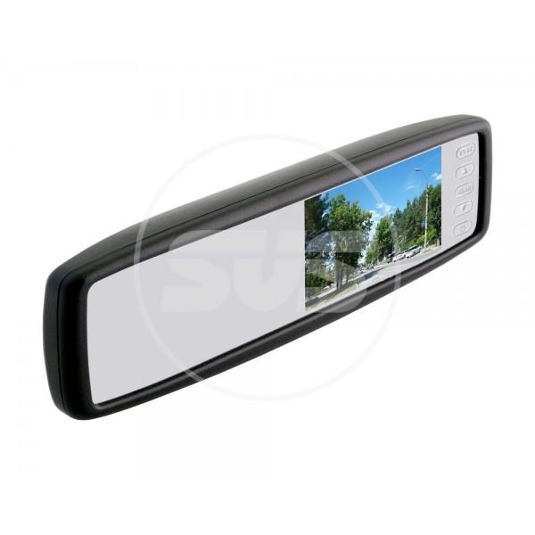 """Мультимедия«Зеркало заднего вида с монитором экран TFT LCD, размер 4,3"""",питание 12В, TV система PAL/NTSC арт.030.0003.000 (штатное)»"""