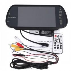 """Зеркало заднего вида с монитором +BLUETOOTH +MP5 экран TFT LCD, размер 7"""", TV система PAL/NTSC арт.030.0008.000 (накладное)"""